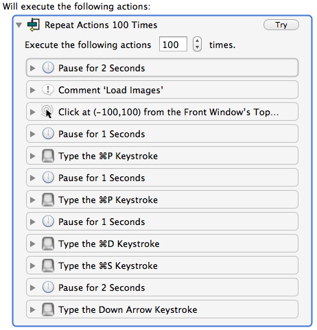 Keyboard Maestro action with repeat